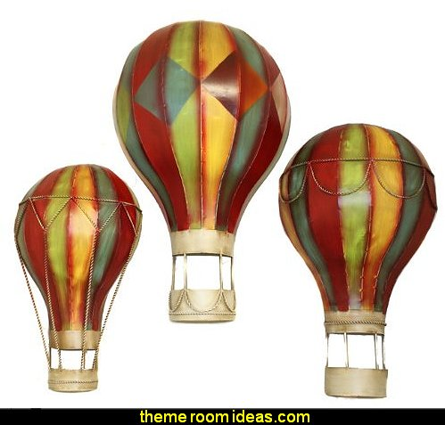 Hot Air Balloons Metal Wall Art Decor