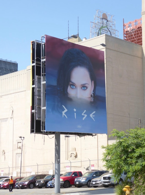 Katy Perry Rise billboard