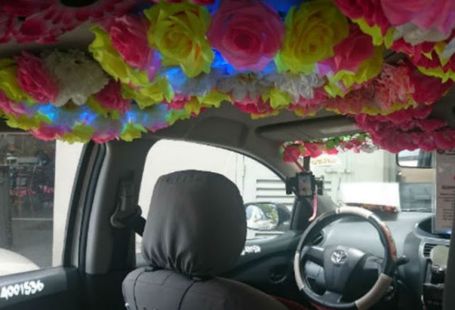 This Taxi Will Give You A Refreshing And Relaxing Trip With It's Garden Inside!