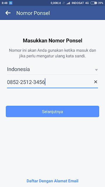 masukkan nomor ponsel