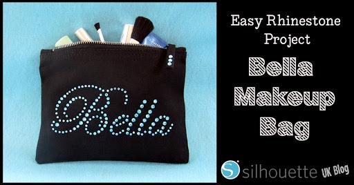 Rhinestone Makeup Bag by Janet Packer for Silhouette Uk Blog #rhinestones #silhouette