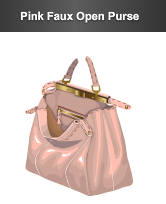 stardoll le pink faux open purse