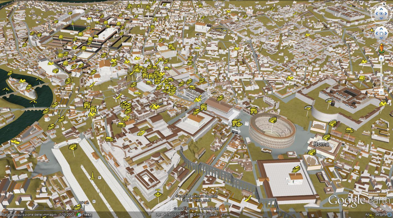 Google earth italia antica roma 3d for Google planimetria
