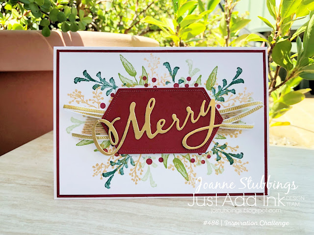 Jo's Stamping Spot - Just Add Ink Challenge #486 using First Frost and Merry Christmas to All bundle by Stampin' Up!