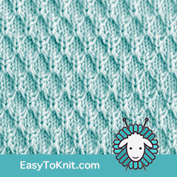 Slip Stitch Knitting 8: Mock Honeycomb | Easy to knit #knittingstitches #knittingpattern