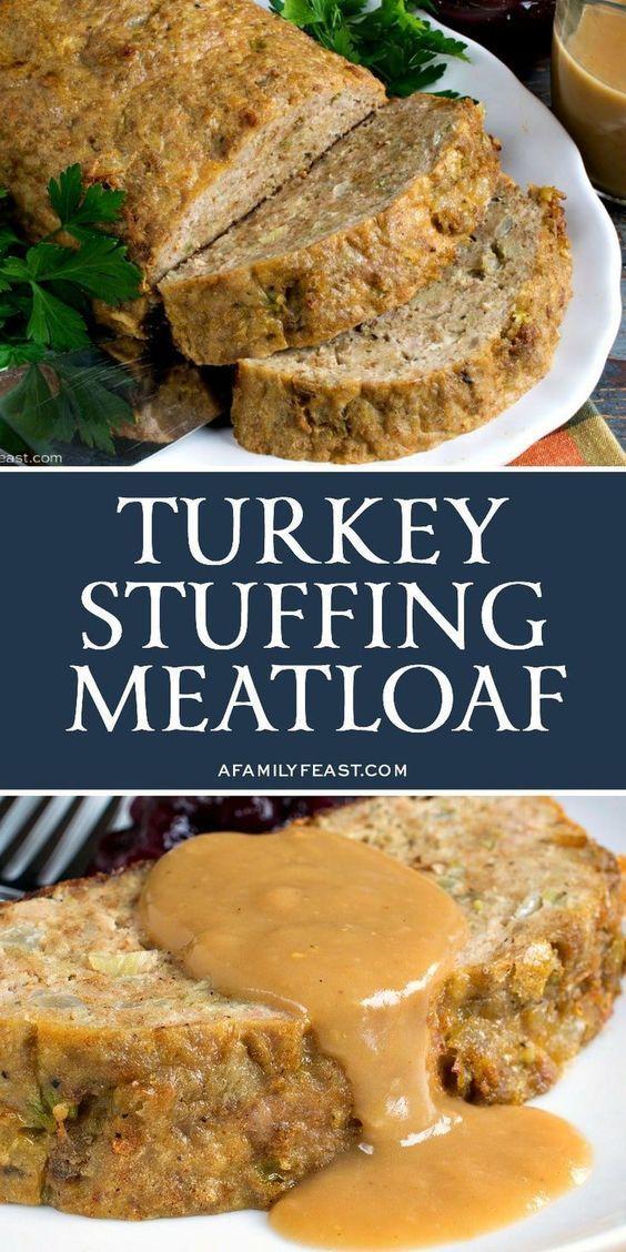 Turkey Stuffing Meatloaf
