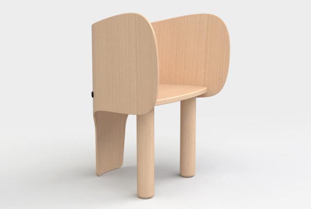 una silla elefante para la habitacin infantil