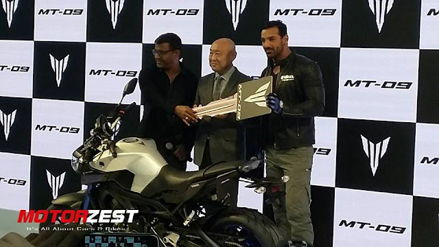 John Abraham Launches Yamaha MT-09 in India At AutoExpo2016