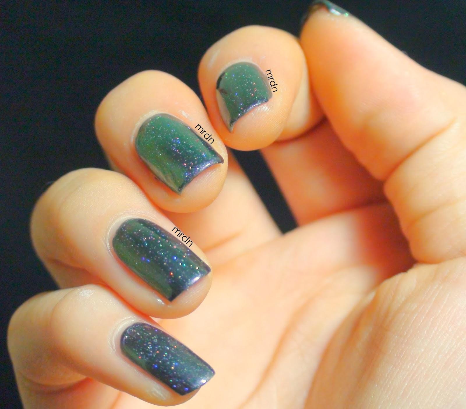 Nail Art London: My Rainy Day Nails: Color Block Nail Art With Butter London