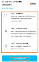 rs 100 paytm big bazaar cashback offer