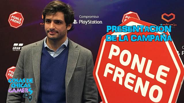 carlos sainz y playstation en la campaña #ponlefreno
