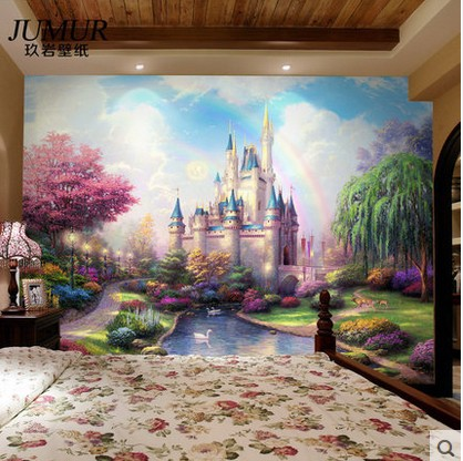 Castle Wall Mural Girls Room