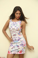 Nishi Ganda stunning cute in Flower Print short dress at Tick Tack Movie Press Meet March 2017 066.JPG