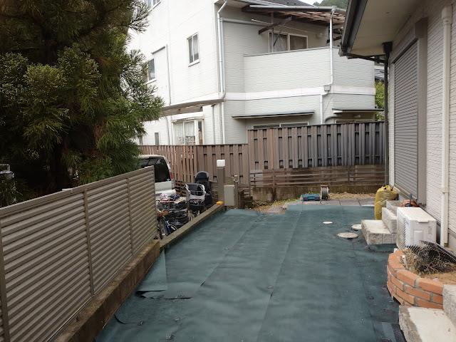 伐根・整地・防草シート張り(京都市)