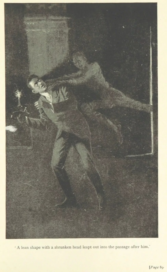 ILUSTRACIÓN DE UNA DE LAS PRIMERAS EDICIONES DE LAS AVENTURAS DE FLAXMAN LOW DE 1899