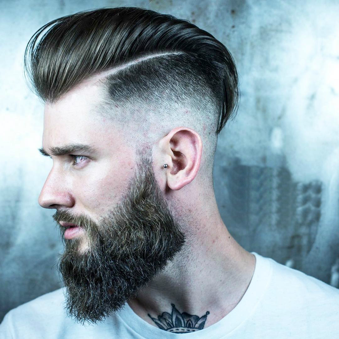 COOL CLASSIC BEARED MEN'S HAIRSTYLES