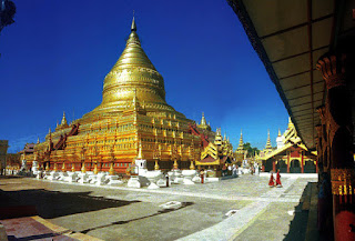 Shwezigon Pagoda in Bagan