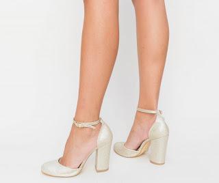 Pantofi Gity Aurii decupati de ocazii