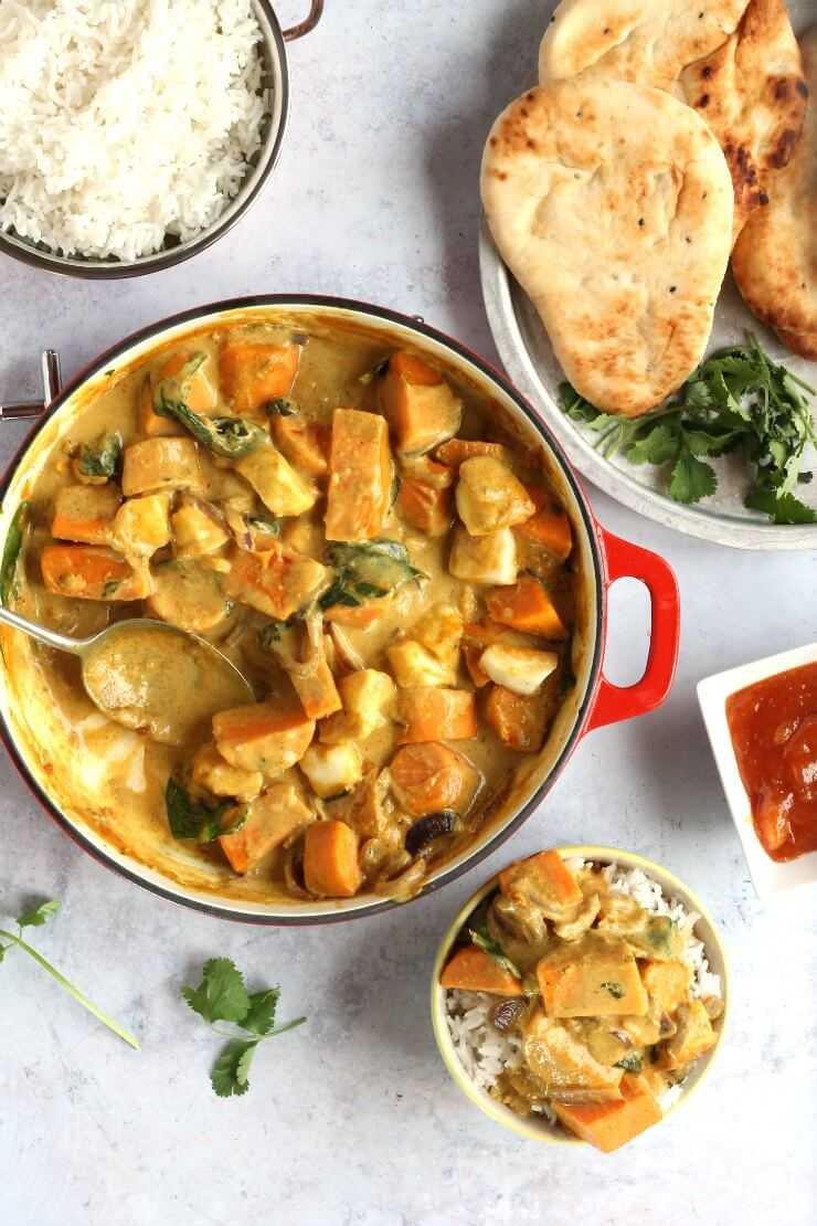 Halloumi and Sweet Potato Curry