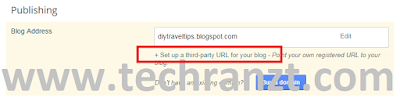 Photo showing how to setup custom domain in Blogger
