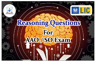Reasoning Questions (Puzzle) for LIC AAO/IBPS SO Exams