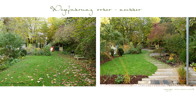 Wegeführung und Gartenraum