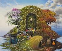 El jardín de los filósofos: perspectiva del jardín, Francisco Acuyo, Ancile