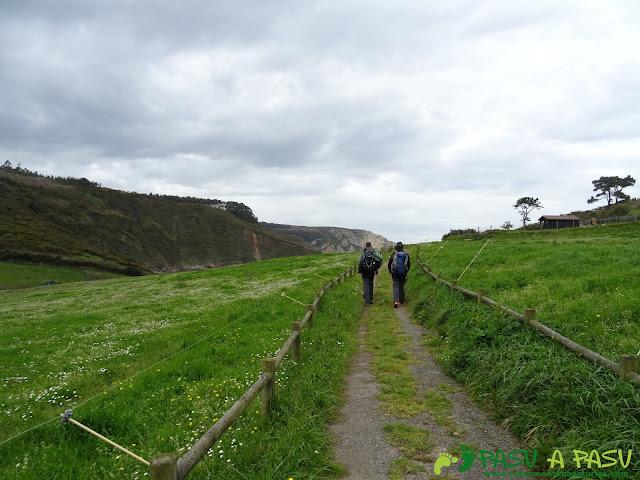 Senda Coste Norte, paseo entre campos