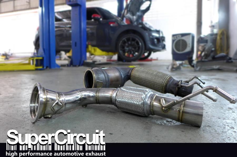 Supercircuit Exhaust Pro Shop Mini Cooper S F56 Downpipe