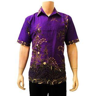 Model Baju Batik Anak Muda Lengan Pendek