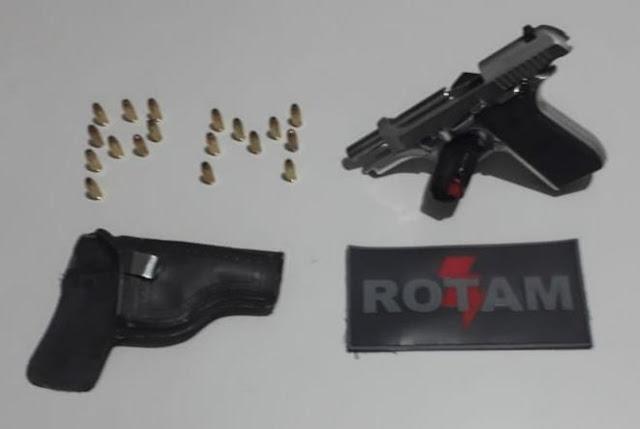 Polícia Militar apreende pistola em São Bento (PB) durante Operação cidade Segura