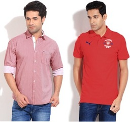 Reebok, Fila, Wrangler Men's Clothing – Minimum 60% Off @ Flipkart (Limited Period Deal)