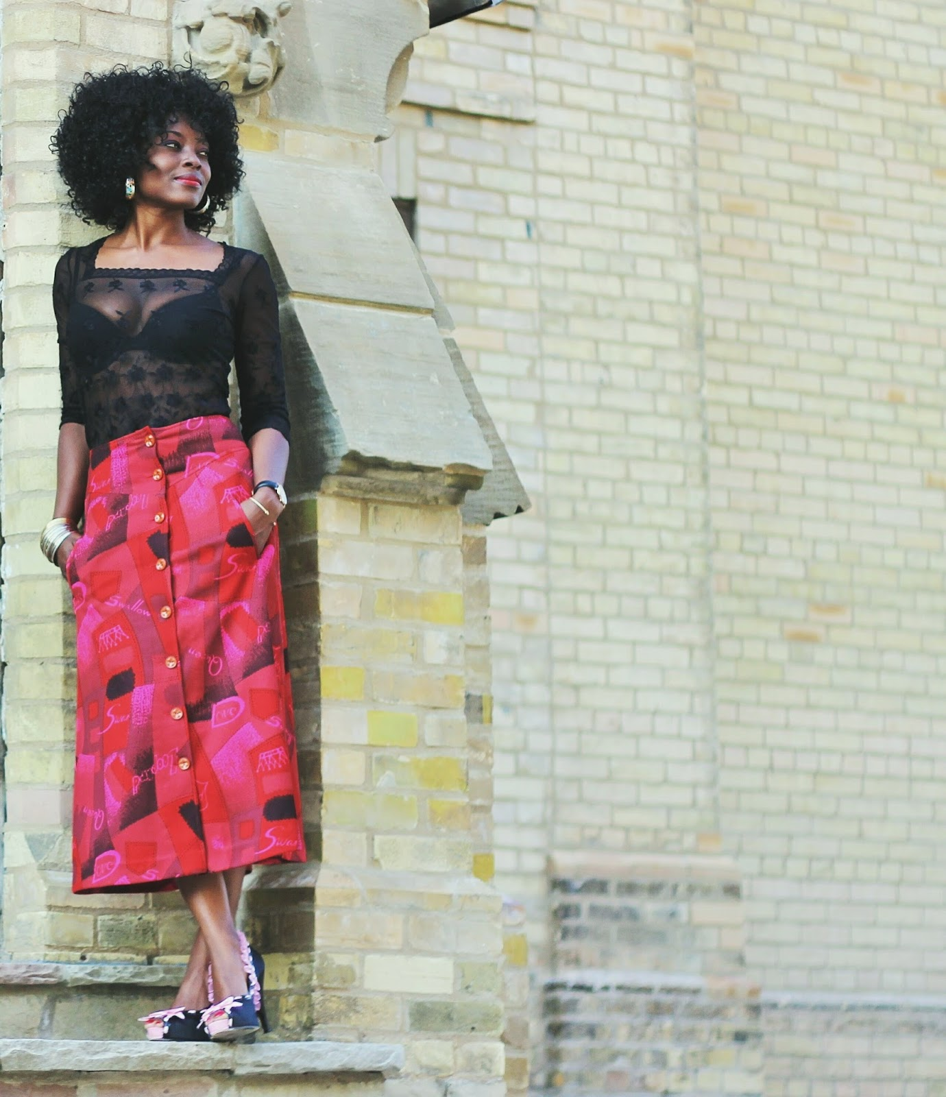Quirky Chic   Vintage Skirt