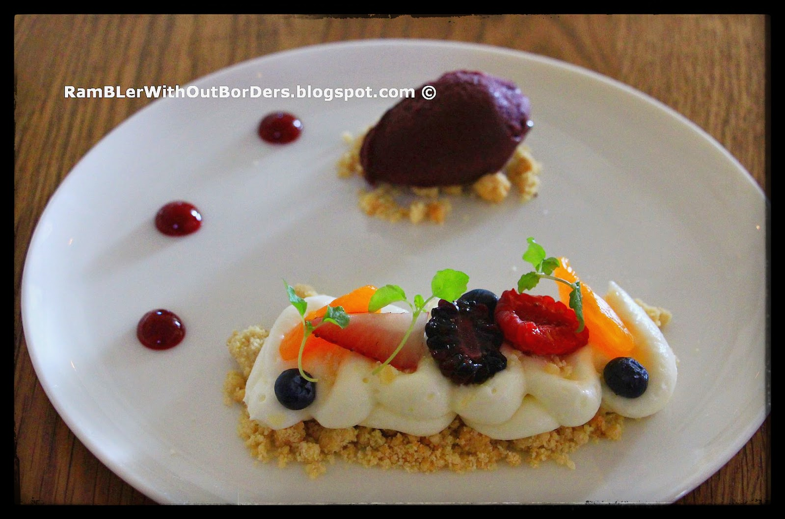Deconstructed cheesecake, The White Rabbit restaurant, Singapore