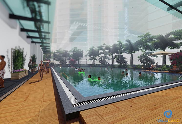 Bể bơi bốn mùa hiện đại tại An Bình Plaza