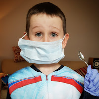 boy dressed as dentist
