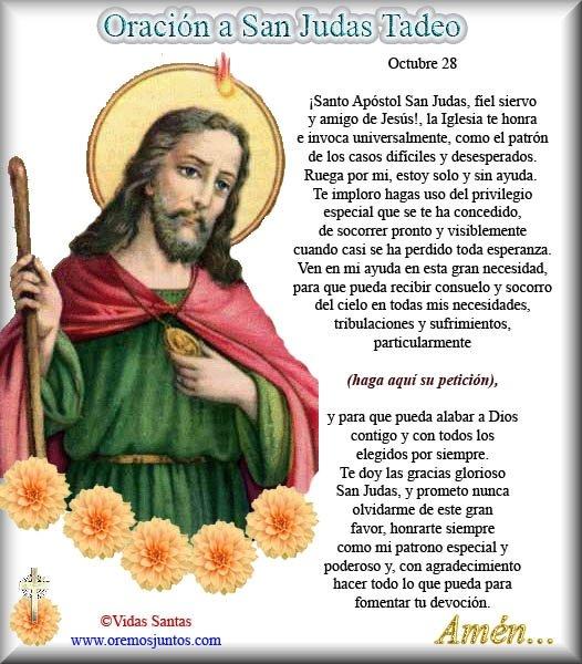 De Por Tadeo Para Enfermos Judas Con San Imagenes Los Pedir Oraciones