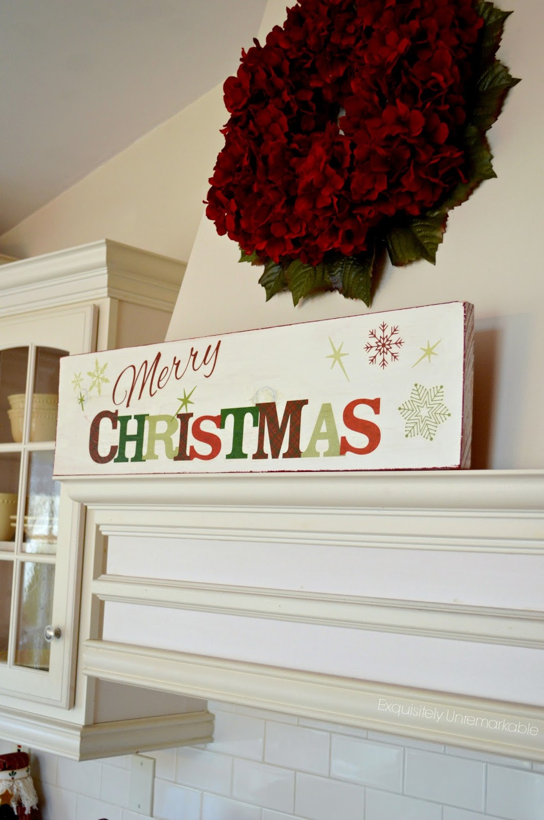 diy easy wooden christmas sign - Wooden Christmas Signs