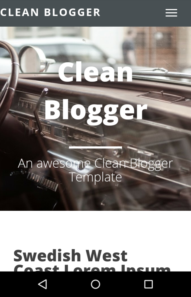 Clean Blogger Mobile Responsive View