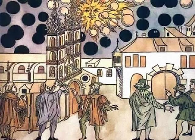 Thuỵ Điển năm 1808 từng xuất hiện hàng triệu vật thể lạ bí ẩn trên bầu trời