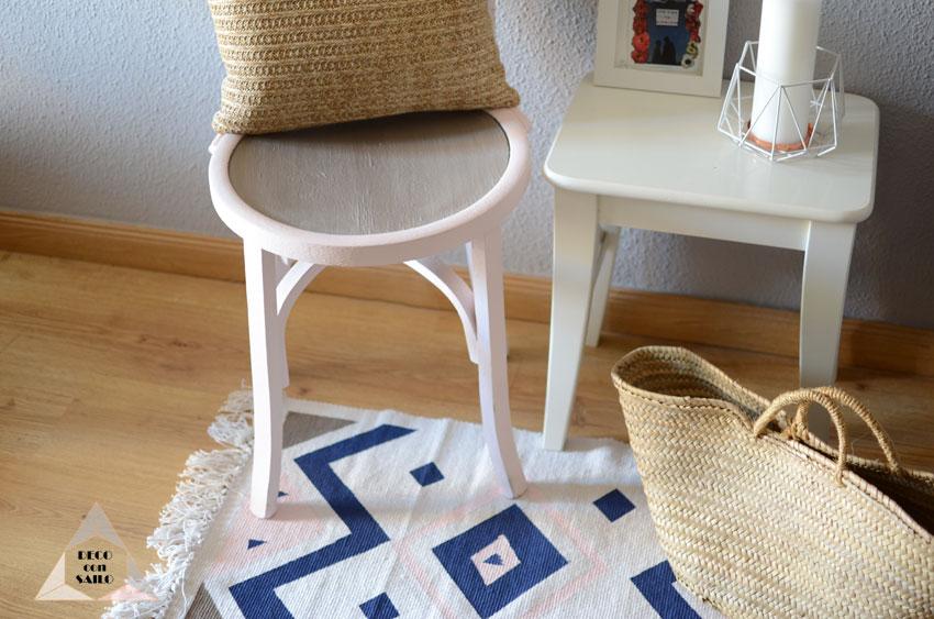 Diy alfombra pintada con pintura a la tiza blog de - Alfombra rafia ...