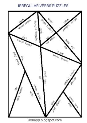 puzzle czasowniki nieregularne