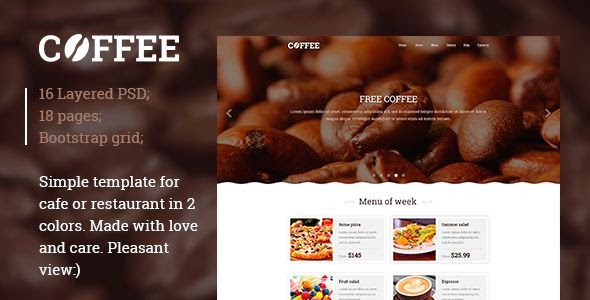 Restaurant Cafe PSD template