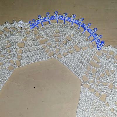 レースの付け襟の編み方, How to crochet a lace collar, 蕾丝衣领的编织方法