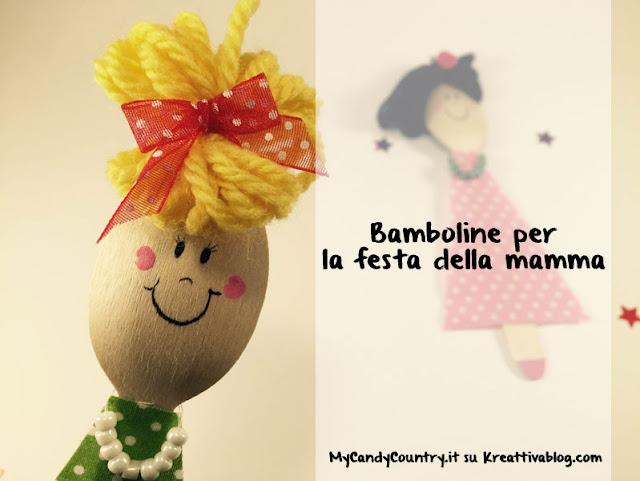 bamboline con cucchiaio di legno di Carlottina