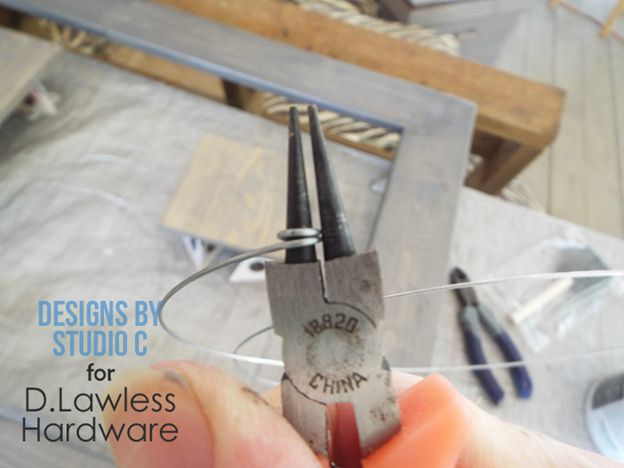 DIY Wire Frame Hanger - Pliers