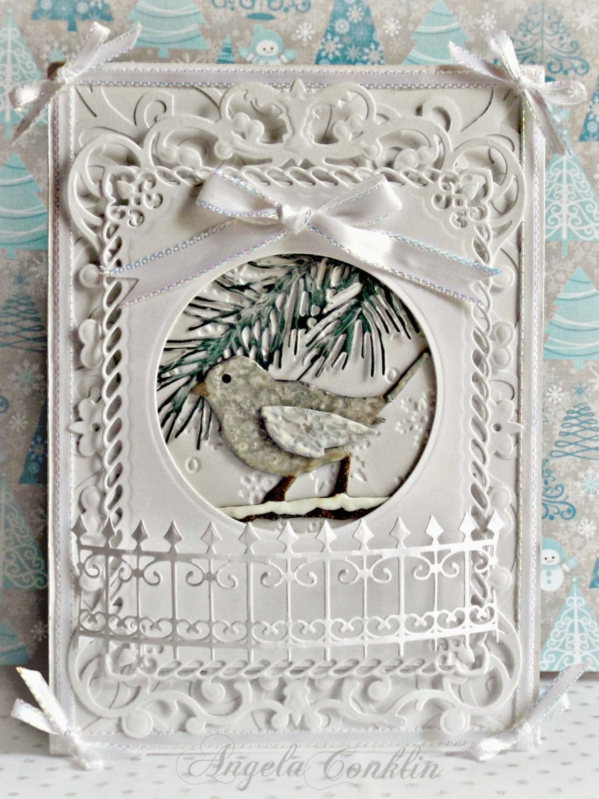 Greeting Card: Dimensional White Winter