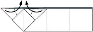 Bước 9: Gấp 2 cạnh giấy lớp thứ 2 vào trong để làm tai tho