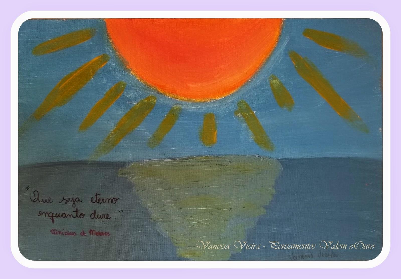 Por do Sol, pintura, Vanessa Vieira, pensamentos