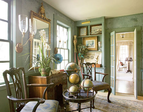 Sage Green Country Living Room